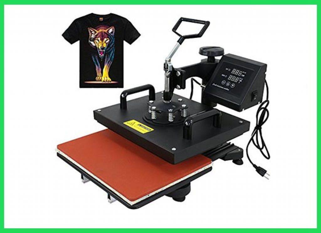 F2C Pro 5 in 1 Combo Heat Press T-Shirt Hat Cap Mug Plate Digital Transfer Sublimation Machine