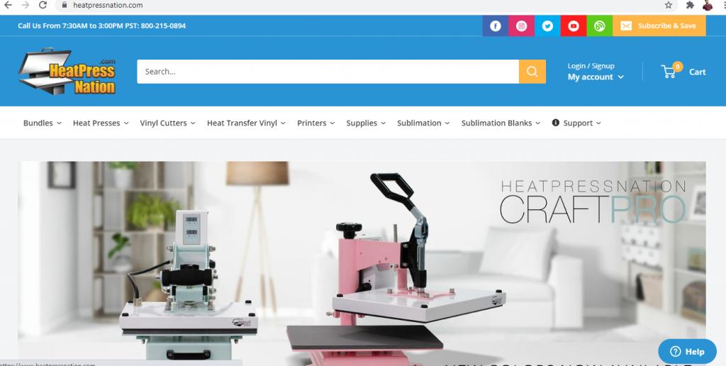 HeatPress Nation Sublimation Products
