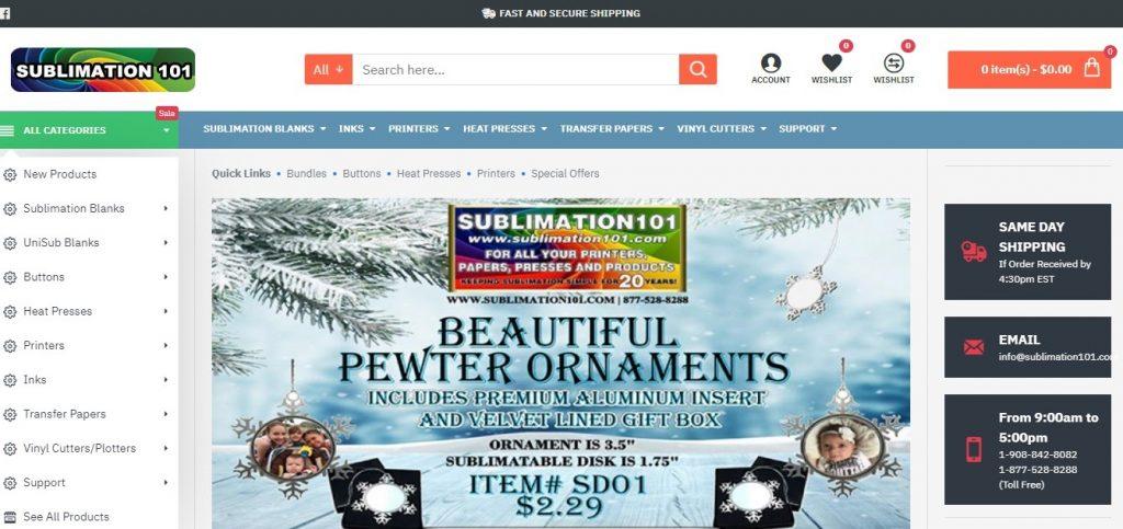 Sublimation 101 Online Shop