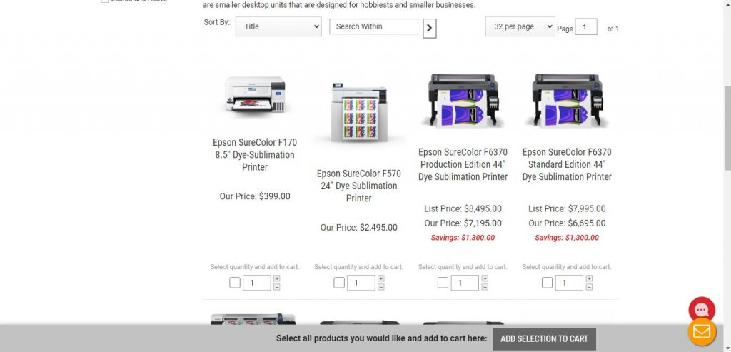 Buy Sublimation Printers from ItSupplies