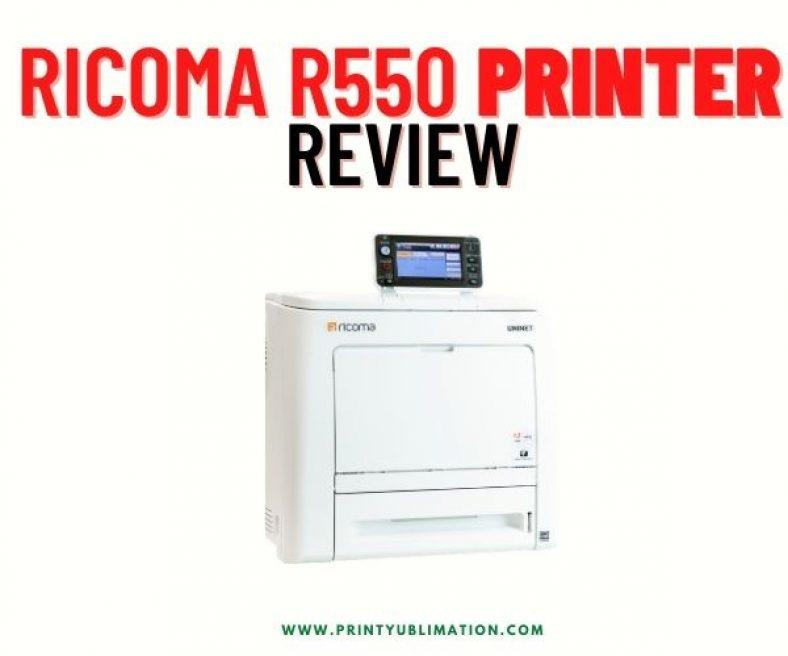 Ricoma R550 White Toner Transfer Printer Review